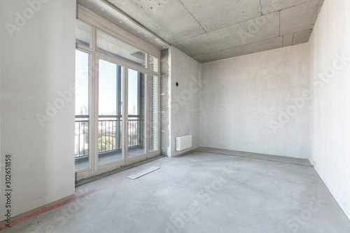 interior of the apartment without decoration Canvas-taulu