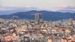 The Sagrada Familia and skyline of Barcelona, Spain