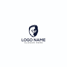 Mascot/yeti/ninja/ Negative Space Logo Design For Use Any Purpose