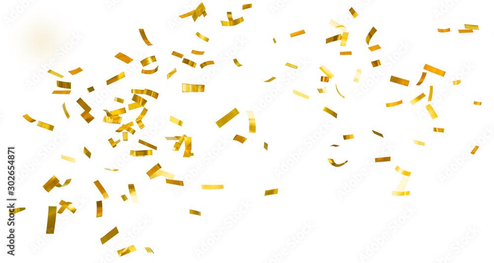 Fototapeta Golden shiny confetti