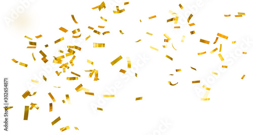 Obraz Golden shiny confetti - fototapety do salonu