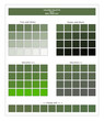 COLORS PALETTE / Kale / Spring and Summer 2020 Colors Palette for Textile Prints and Digital Use. Fashion Trend Colors Guide with Tints and Shades Swatches, Compatible with Design Softwares.