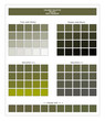 COLORS PALETTE / Mayfly / Spring and Summer 2020 Colors Palette for Textile Prints and Digital Use. Fashion Trend Colors Guide with Tints and Shades Swatches, Compatible with Design Softwares.