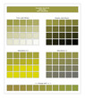 COLORS PALETTE / Split Pea / Spring and Summer 2020 Colors Palette for Textile Prints and Digital Use. Fashion Trend Colors Guide with Tints and Shades Swatches, Compatible with Design Softwares.