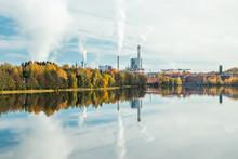 Kouvola, Finland - 9 October 2019: Upm Factory In Kuusankoski.