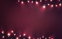 Christmas Garland Of Lights On...