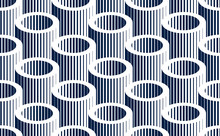 Tubes Op Art Seamless Vector Background, Repeat Tiling Optical Illusion Pattern, Textile Or Wrapping Paper, Website Backdrop Or Wallpaper.