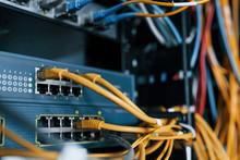 Close Up View Of Internet Equi...
