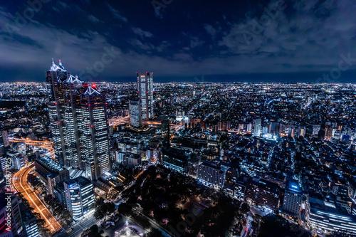 都庁展望台から見る新宿の夜景 Fototapeta