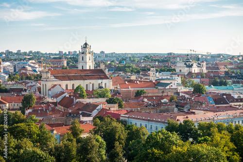 Photo sur Aluminium Con. Antique VILNIUS, LITHUANIA - September 2, 2017: Street view of downtown in Vilnius city, Lithuanian