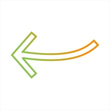 Beautiful Arrow Pointing Left Line Vector Icon