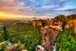 Goldene Stunde - Sonnenaufgang über der Bastei