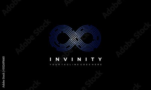 Infinite Line Logo - Infinity vector Poster Mural XXL