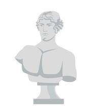 Plaster Bust Flat Vector Illustration