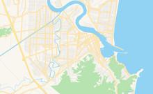 Printable Street Map Of Itajai, Brazil