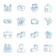 Simple Set of Universal Related Color Icons