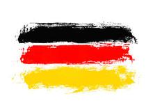Unordentliche Handgemalte Flag...