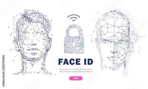 Cuadros en Lienzo Face id technology