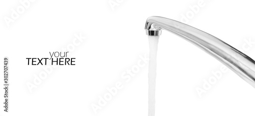 Obraz Water tap with the copy space - fototapety do salonu