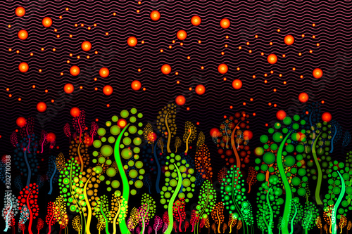 Synthetic Biology - Synthetic Microecosystem - Conceptual Illustration Canvas Print