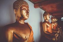 Buddha Statues In Wat Pho, Ban...