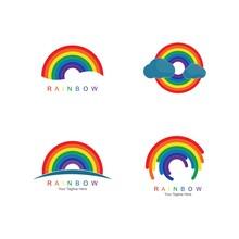 Rainbow Logo Template Vector Icon Illustration Design