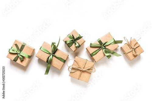 Christmas zero waste, environmentally friendly packaging Fotobehang