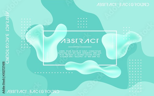 Poster Vert corail Liquid abstract background design. Fluid gradient shapes composition. digital template.can be used in cover design, poster, flyer, book design, website backgrounds or advertising. vector illustration.