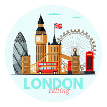 London Cityscape Vector Clipar...