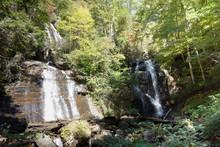 Anna Ruby Waterfalls In Georgia, USA