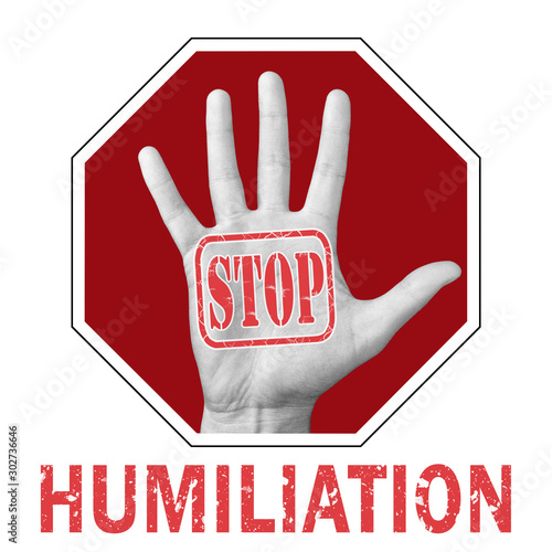 Photo Stop humiliation conceptual illustration