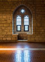 Window In Medieval Castle Ruin...