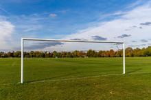 A Beautiful Amateur Football Field In A London Park England.