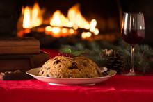 English Christmas Pudding With...