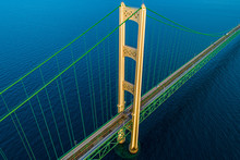 Mackinac Bridge Golden Hour 7