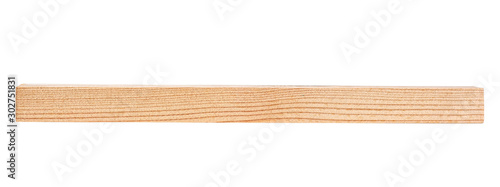 Garden Poster Firewood texture Wooden bar isolated on a white background