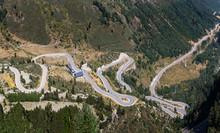 Winding Road At Port De La Bonaigua, Catalan Pyrenees