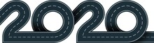 Numbers Of 2020 Year In Shape Road
