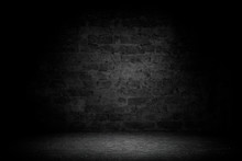 Abstract Black Brick With Vign...