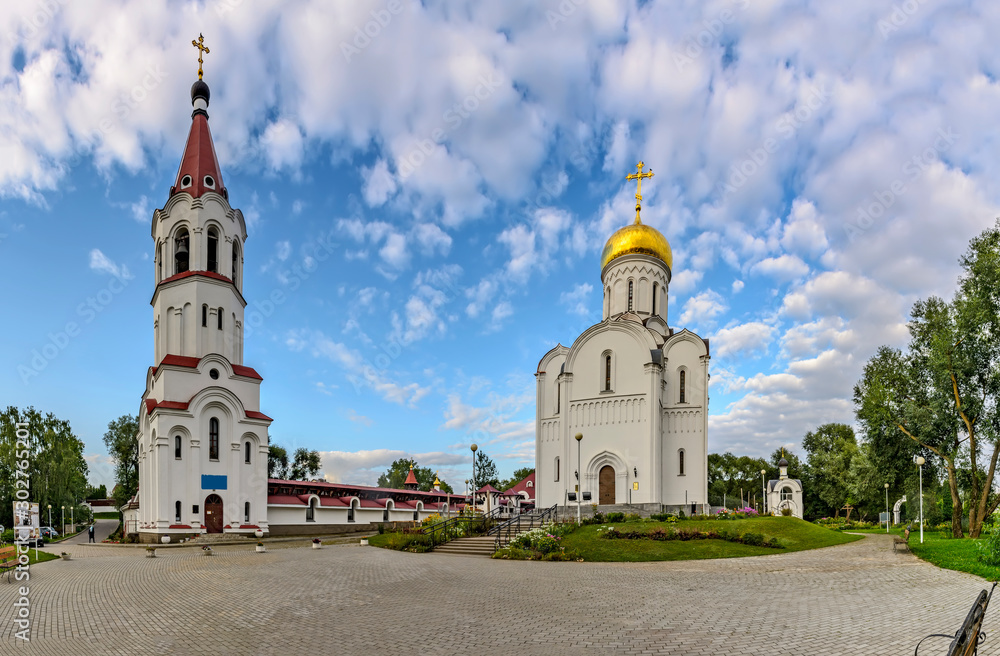 Fototapety, obrazy: Church of the intercession of the blessed virgin Mary and bell tower