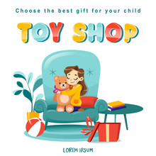 Toy Shop Koncept With Little G...