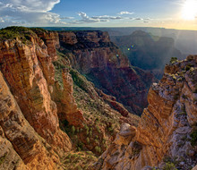 The Spire Abyss Near Zuni Point On The South Rim Of The Grand Canyon Near Sundown, Located A Mile East Of Moran Point, Grand Canyon National Park, Arizona