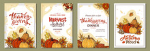 Set Of Thanksgiving Greeting C...