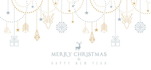 Fototapeta na wymiar Auguri di Natale con elementi geometrici