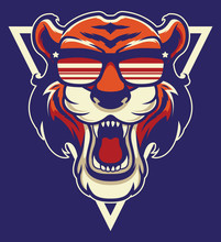 Cool Tiger Mascot