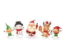 Christmas Friends Elves Santa ...