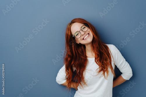 Fotografie, Obraz Happy attractive young redhead woman
