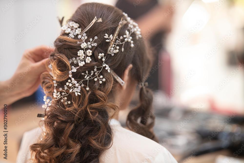 Fototapety, obrazy: a woman at the beauty salon