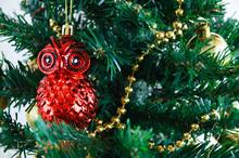 Christmas Glass Decoration Owl...