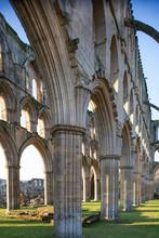 Inside Rievaulx Abbey, England